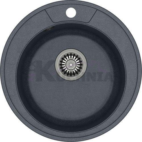 QUADRON zlewozmywak DANNY 210 czarny metalik / odpływ stalowy (HB8301U8-BS)