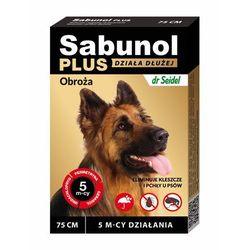 Laboratorium dermapharm Sabunol plus - obroża przeciw pchłom i kleszczom dla psa 75cm (5901742001520)