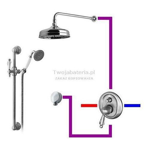 Giulini Giovanni Praga kompletny zestaw prysznicowy deszczownica zestaw natryskowy Swarovski przezroczysty Swarovski SWPRUP3