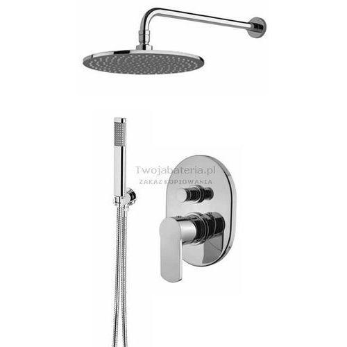 Armando vicario glam kompletny zestaw prysznicowy deszczownica słuchawka glamzes20