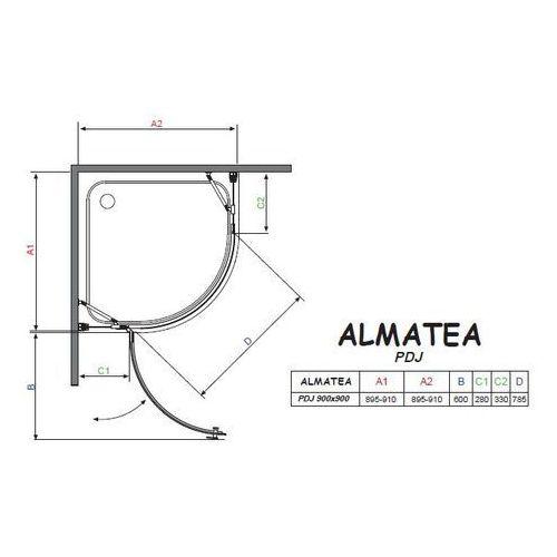 Radaway Almatea pdj 90 x 90 (30602-01-01N)