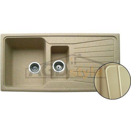 Zlewozmywak PLADOS SPAZIO LV/1,5 OC beżowy metalic (45)