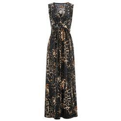 Bonprix Sukienka shirtowa z nadrukiem brązowy z nadrukiem
