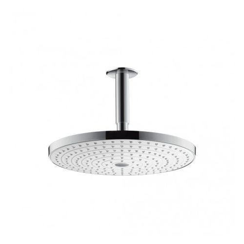 Głowica prysznicowa raindance select s 300 2jet z przyłączem sufitowym 100 mm dn15 biały/chrom - 27337400 marki Hansgrohe