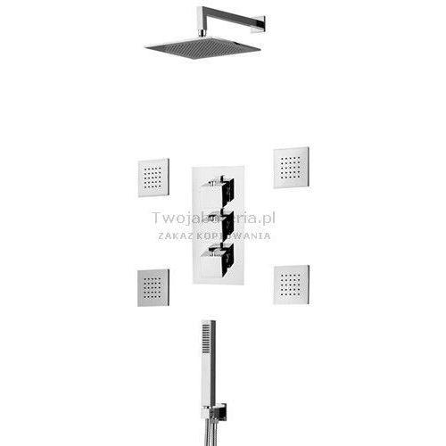 Vicario Corner kompletny zestaw prysznicowy podtynkowy termostatycznydysze TCZES40