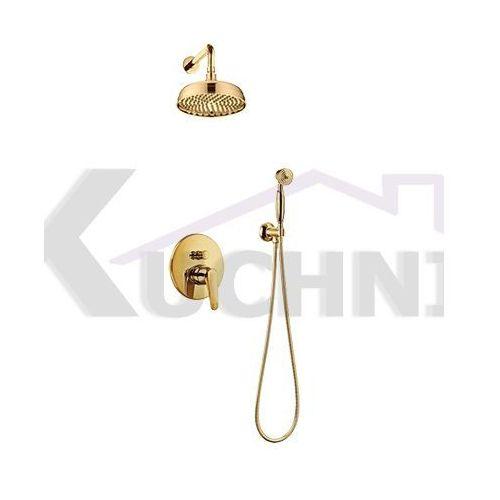 OMNIRES ART DECO SYS AD27 ZŁ ZŁOTO system prysznicowy podtynkowy (5901867775702)