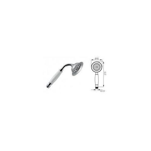 Ferro retro słuchawka prysznicowa, chrom + biel s160