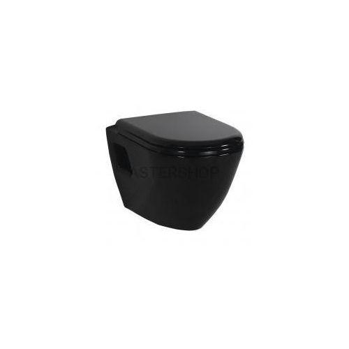 PAULA Miska WC podwieszana 35,5x50 cm, kolor: czarny TP325.40100, TP325.40100