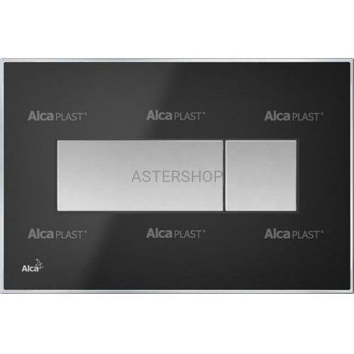 Przycisk spłuczki podtynkowej, czarny-mat m1375 marki Alcaplast