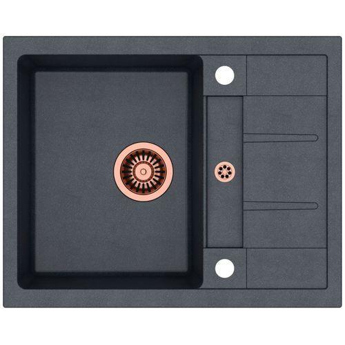 Zlewozmywak morgan 116 hb8210u8c1-bw7002c1u8 czarny metalik + bateria ingrid + darmowy transport! marki Quadron