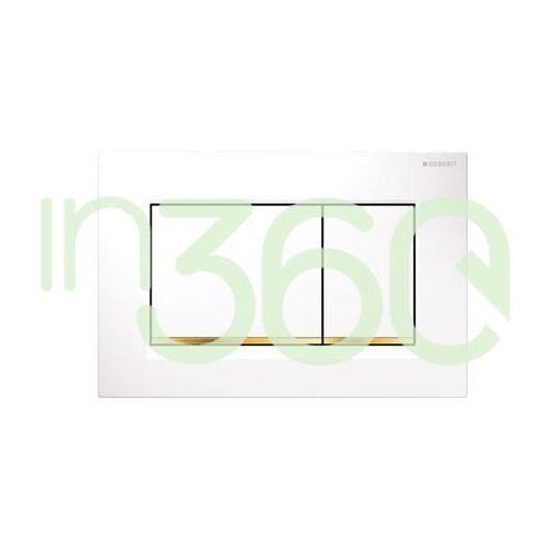 sigma30 przycisk uruchamiający przedni, biały-złoty-biały 115.883.kk.1 marki Geberit