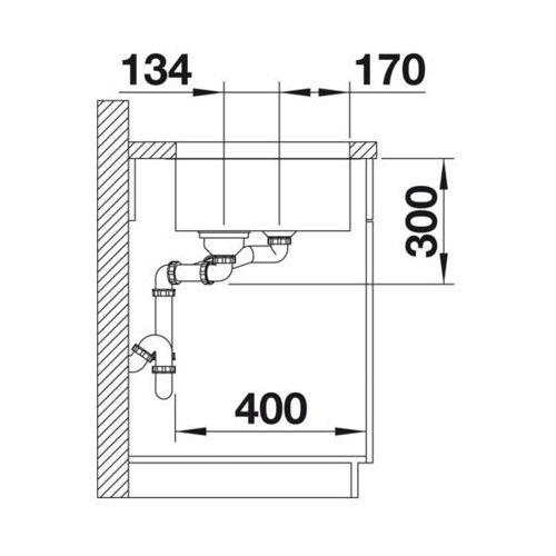 BLANCO YPSILON 550-U - Lewa \ Manualny, 518210