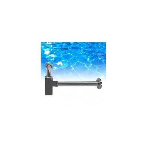 Omnires dekoracyjny syfon umywalkowy z mosiądzu, kwadrat, chrom a5555