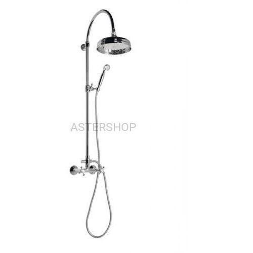 Reitano Antea zestaw natryskowy z rączką prysznicową do baterii ściennej, chrom set031