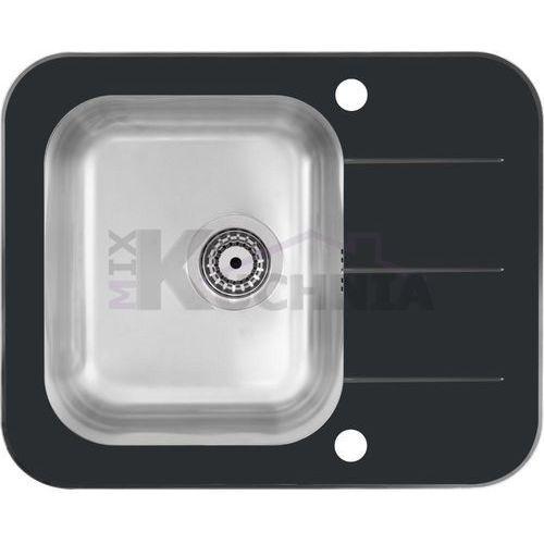 Quadron zlewozmywak keanu 116 czarny / odpływ stalowy (hb9021sc)