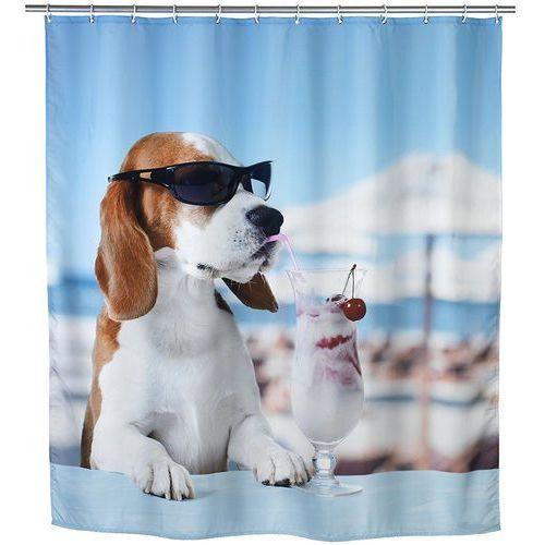 Wenko Zasłona prysznicowa cool dog, tekstylna, 180x200 cm, (4008838215456)
