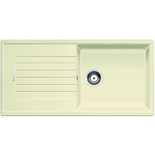 ZIA XL 6S Blanco zlewozmywak granitowy 500x1000 korek manualny jaśmin - 517572, 517572a
