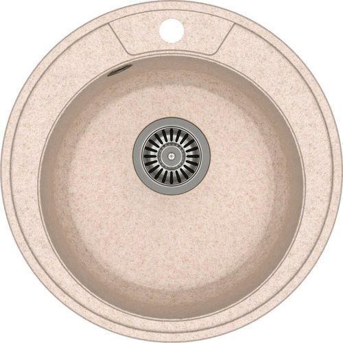 Quadron Zlewozmywak danny 210 beżowy metalik + odpływ stalowy [hb8301u3-bs]