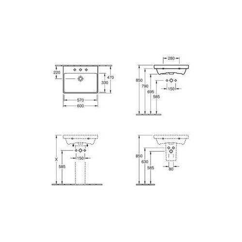 Villeroy & Boch Ceramicplus 60 x 47 (4158 60 R1)