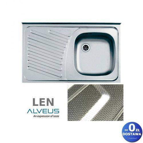 """Alveus Compact 10 len 80x50x15 cm zlewozmywak nakładany ociekacz lewy 1-komorowy ze stali nierdzewnej + syfon 1 1/2"""" (3838997370502)"""