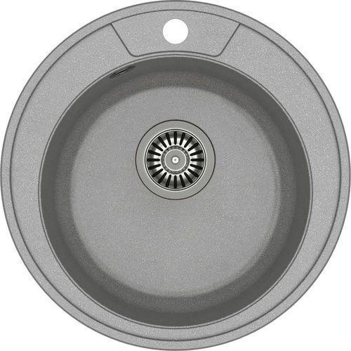 Zlewozmywak danny 210 szary metalik + odpływ stalowy [hb8301u5-bs] marki Quadron