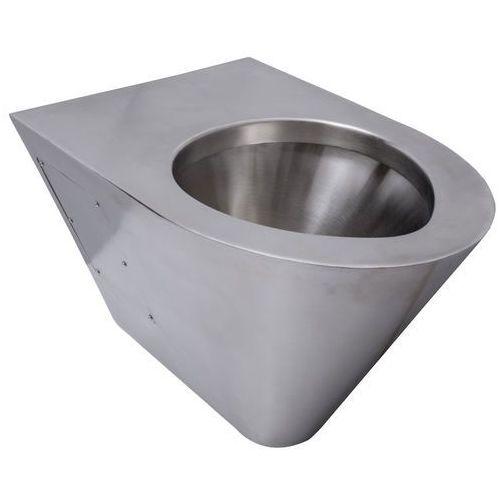 Miska WC wisząca Faneco stal szlachetna matowa