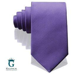 Włoski krawat jedwabny 14805/6, kolor fioletowy