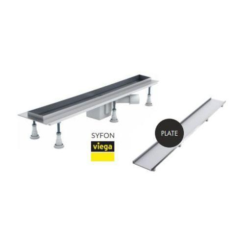 Schedpol odpływ liniowy do zabudowania płytkami Plate 80x8x9,5cm OLP80/ST (5907527058291)