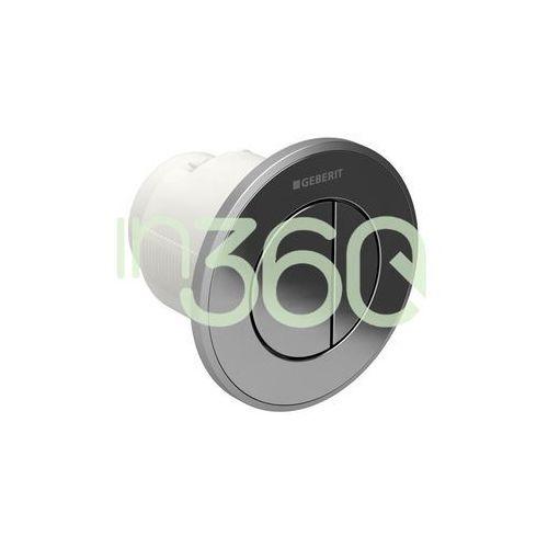 Geberit HyTouch pneumatyczny przycisk uruchamiający WC Typ 10, ręczny, podtynkowy, dwudzielny, chrom-chrom mat 116.055.KH.1