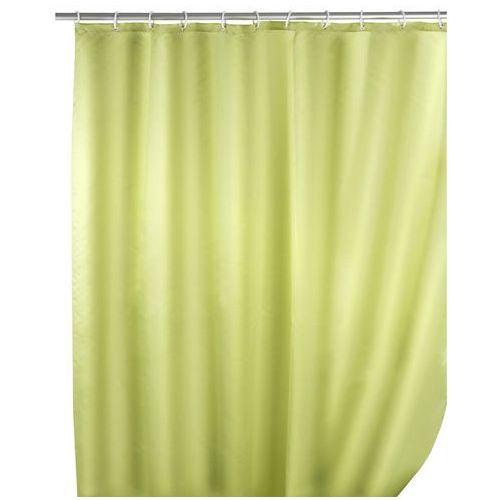 Zasłona prysznicowa, tekstylna, kolor jasnozielony, 180x200 cm, WENKO, B008MVW00C