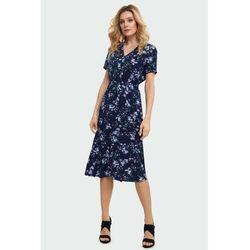 Greenpoint Wiskozowa sukienka z nadrukiem 8k40ex