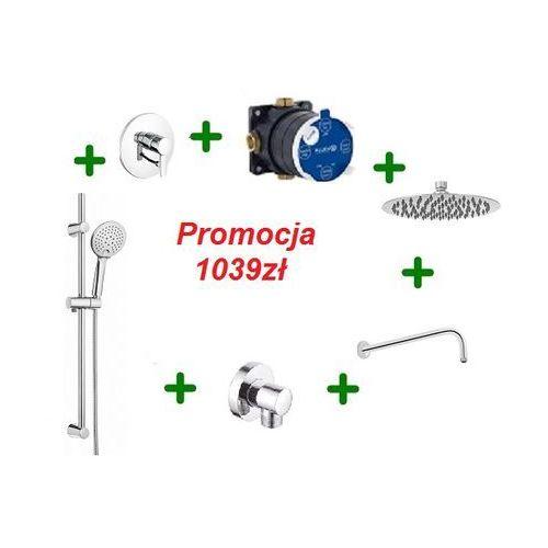 Kludi Zenta kompletny zestaw prysznicowy z drążkiem i deszczownicą OXY 30cm 386500575