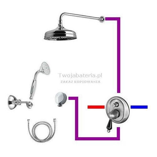 harmony kompletny zestaw prysznicowy deszczownica słuchawka z uchwytem swarovski czarny swhauc6 marki Giulini giovanni