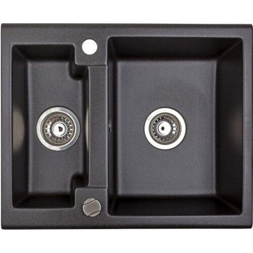 Brenor Zlewozmywak granitowy caro 25 czarny metalik