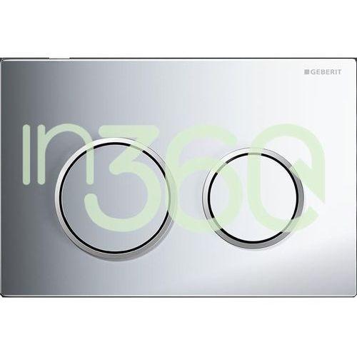 Geberit omega20 przycisk uruchamiający, przedni/górny, chrom błyszczący-chrom matowy-chrom błyszczący 115.085.kh.1