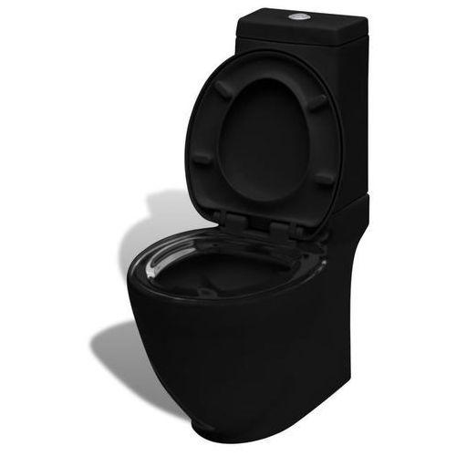 Toaleta, miska klozetowa, czarna, kwadrat