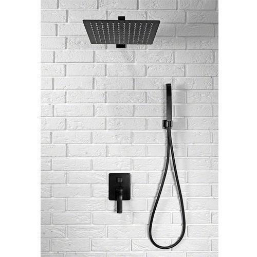Rea sonic zestaw prysznicowy podtynkowy czarny rea-p0369