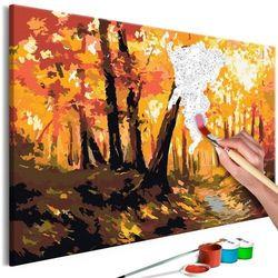 Obraz do samodzielnego malowania - leśna ścieżka marki Artgeist