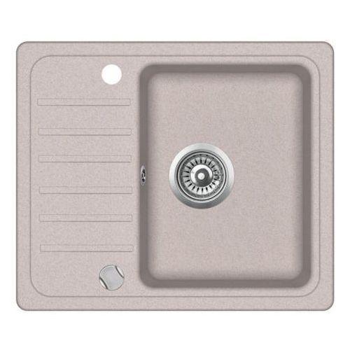 Zlewozmywak granitowy nexo beż z półociekaczem 46x56x16 cm + syfon automatyczny marki Vbckueche