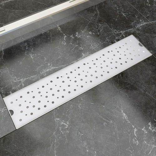 vidaXL Kratka odpływowa, liniowa, 530x140 mm, wzór w kropki, stal nierdzewna (8718475979104)