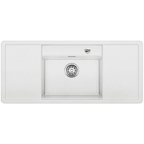 ALAROS 6S Blanco zlewozmywak granitowy 510x1160 deska czarna biały - 516560 (4020684484657)