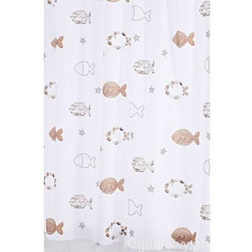 FISHES poliestrowa zasłona prysznicowa 180x200 cm 47819, 47819