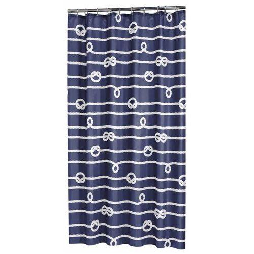 zasłona prysznicowa rope, 180 cm, niebieska, 233761322 marki Sealskin