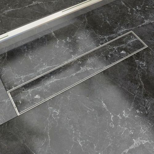 odpływ/spust przysznicowy liniowy 630x140 mm, stal nierdzewna marki Vidaxl