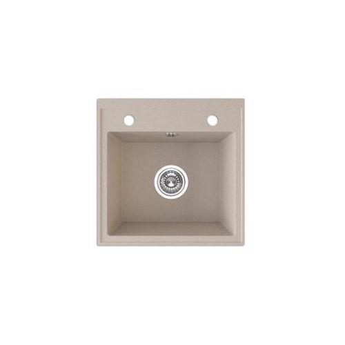 Laveo trzynastka zlewozmywak granitowy 44x44x17cm, granit beż sgy 410t