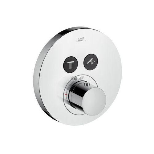 bateria termostatyczna axor showerselect round do 2 odbiorników, montaż podtynkowy, element zewnętrzny 36723000 marki Hansgrohe