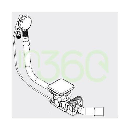 Kaldewei syfon z funkcją napełniania mod. ka4081z emaliowaną pokrywą odpływu biały 687772020001