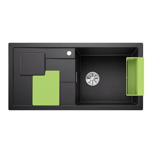 BLANCO SITY XL 6 S Silgranit PuraDur Antracyt prawa, InFino, z akcesoriami kiwi - Antracyt