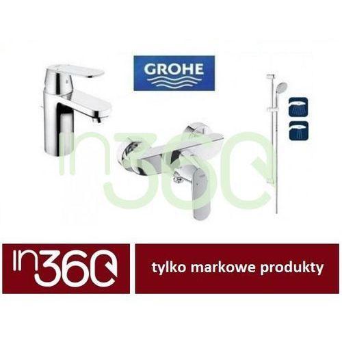 Grohe eurosmart cosmopolitan zestaw baterii umywalkowa prysznicowa (32825000 +32837000 +27598000) chrom in.000b004