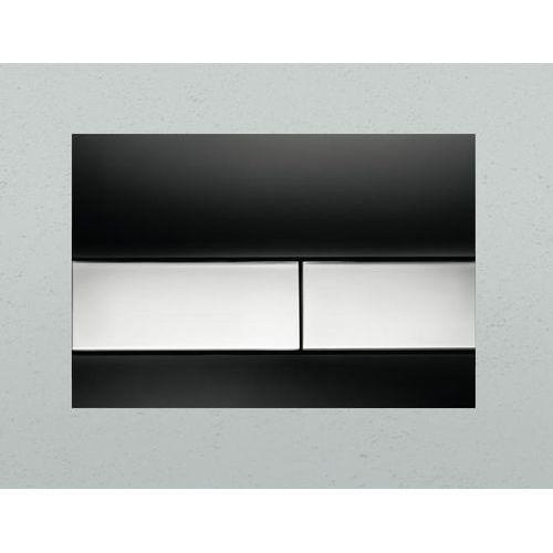 Tece przycisk spłukujący TeceSquare szkło czarne/przyciski chrom połysk 9240807